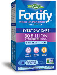 <b>Fortify</b> Everyday Care <b>Women's Probiotic</b>, 30 Billion Live Cultures ...