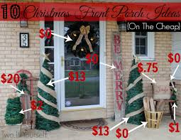 cheap christmas decor:  frontporchbudget