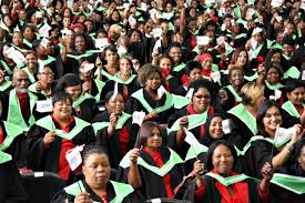 excellence awarded at annual graduation college of cape town graduates waving the flag of the college of cape town