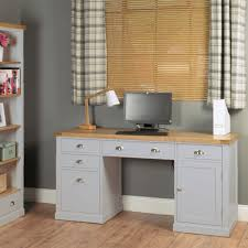 baumhaus chadwick grey painted twin pedestal desk baumhaus chadwick grey painted hidden home office