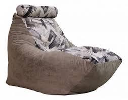 <b>Кресло</b>-<b>мешок DreamBag</b> Трапеция City, размер M, велюр, серый ...