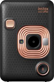 <b>Fujifilm instax mini</b> LiPlay Instant Film Camera Elegant <b>Black</b> ...