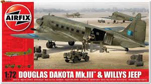 dougl dakota mkiii w jeep  airfix 9008 dougl dakota mkiii w jeep 1 15 1 72
