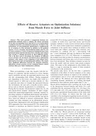 Effects of Reserve Actuators on Optimization <b>Solutions</b>: from <b>Muscle</b> ...