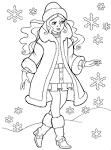 Барби зимой раскраски