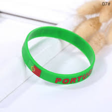 2018 World Cup Country Flag <b>Silicone Bracelet</b> Sporting <b>Wrist Band</b> ...