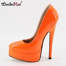 Wonderheel NEW <b>Extreme high heel 18cm</b> spike <b>heel</b> black patent ...