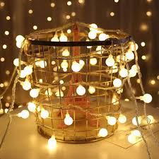 20PCS LED Festoon <b>Ball String Light Christmas</b> Lights Wedding ...