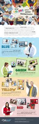the color of your office impacts productivity infographic how the color of your office impacts productivity infographic