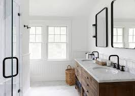 washstand bathroom pine: aged steel mirrors with industrial pine dual washstand