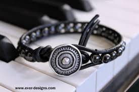 "<b>Hematite Boho</b> Leather Wrap <b>Bracelet</b> ""Steel Bullet"" - Ever Designs ..."
