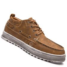 <b>Men</b> Business Lace Up Sport Leather Sneakers <b>Outdoor Jogging</b>