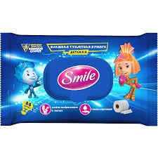 <b>Влажная туалетная</b> бумага <b>детская</b> Smile Фиксики 44 шт ...