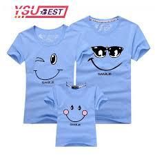 <b>New</b> 2019 <b>Cotton Family</b> Matching T Shirt Smiling Face Shirt Short ...
