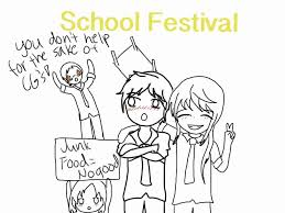 a festival in my school essay school festival fanart sketch doodle by noomimono on