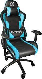 Игровое <b>кресло Defender Interceptor</b> CM-363 Голубой, класс 4, 60 ...