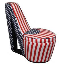 ORE International Modern American Flag Print Accent <b>Chair</b> in the ...