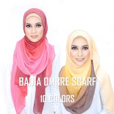 One piece <b>women</b> ombre <b>hijab scarf fashion muslim hijabs</b> viscose ...