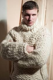Super <b>chunky knit</b>. Men's <b>sweater</b>. Big <b>knit turtleneck</b>. Giant <b>knitting</b> ...