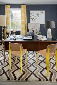 view in gallery eclectic home office in gray with pops of yellow design green couch interior design cheerful home office rug
