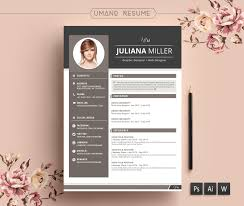 vintage resume template cover letter for word psd modern resume template cover letter for word ai psd diy printable 3 pack the julianna professional and creative design