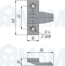 <b>Teks Крепление</b> для фасада (комплект) — Furnitura53