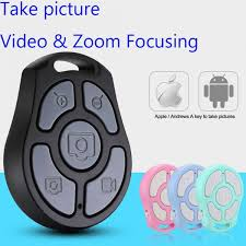 2019 Newest <b>5 Key Selfie Shutter</b> Bluetooth Remote Control Self ...