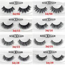 12 Styles /Pair 100% <b>Real</b> Siberian 3D Mink <b>Full</b> Strip False Eyelash ...