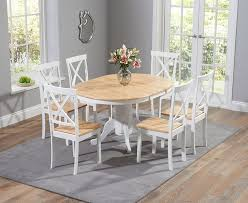 extendable dining table set: buy the epsom oak and white pedestal extending dining table set with chairs at oak furniture superstore uk living pinterest tables pedestal and