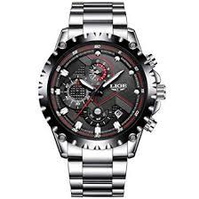 Amazon.com: Mens <b>Watches</b> Fashion Sports <b>Quartz Watch</b> Stainless ...