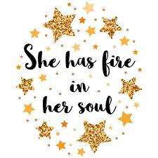 <b>She Has Fire In</b> Her Soul. Hand Drawn Motivation, Inspiration ...