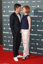 Susie Hariet and Dan Stevens in red carpet event