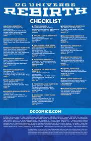 dc universe rebirth comic list ur dc universe rebirth comic list