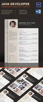 java developer resume template 14 samples examples 2 page java developer resume cover letter portfolio template