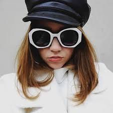 <b>Womens Fashion</b> Block Cut Hexagon <b>Oversize Sunglasses</b> - zeroUV
