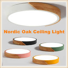 Promise remote control <b>dimming Nordic</b> Oak <b>Dimmable Led</b> Ceiling ...