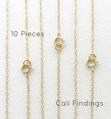 <b>10pc</b> 20 14K <b>Gold</b> Fill Chain Finished Flat Cable Chain   Etsy