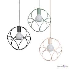 One Bulb Wire <b>Frame Pendant</b> Light <b>Nordic</b> Stylish Metal <b>Hanging</b> ...
