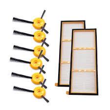 <b>Vacuum Cleaner</b> Parts <b>6PCS</b> Side Brushes and 2PCS <b>HEPA Filter</b> ...