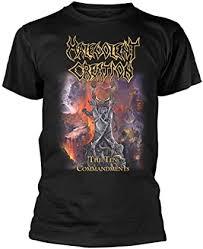 <b>Malevolent Creation 'The</b> Ten Commandments' T-Shirt: Amazon.co ...