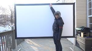 <b>100</b> Inch <b>Foldable</b> Indoor/Outdoor Movie <b>Projector</b> Screen Review ...