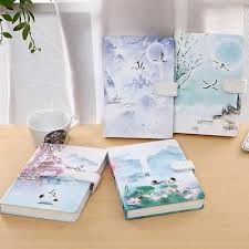 Magnetic <b>Notebook Creative</b> Chinese Style Cranes <b>Vintage</b> ...