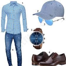 Dunkelblaues Herrenoutfit mit Poloshirt und Tasche - outfits4you.de ...