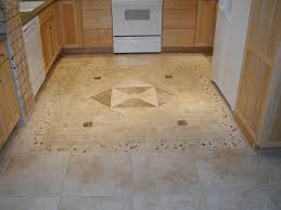 Large Floor Tiles For Kitchen Brown Square Tile Plus Rectangle Gray Tile With Golden Leaves