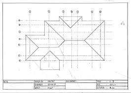 Multiview Drawings Drawing Hand These Three House Structures    Vincentlun E Vincentlunia This One Is The Roof Plan Used To Show Shape Of