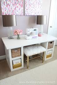 diy sewing desk chic ikea micke desk white