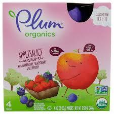 Plum Organics, <b>Organic Applesauce Mashups</b> with Strawberry ...