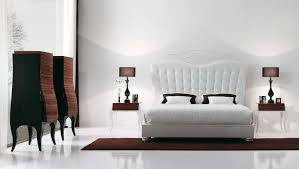 luxury modern ikea bedroom ideas displaying elegant white finish wooden platform bed with white tufted upholstered elegant low black awesome black painted mahogany