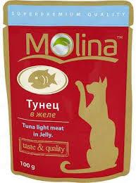 <b>Молина</b> (<b>Молина</b>) - <b>Пауч</b> для кошек Тунец в желе 100 г
