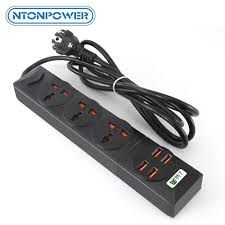 <b>NTONPOWER Universal Power Strip</b> 4 USB Charger Smart Home ...